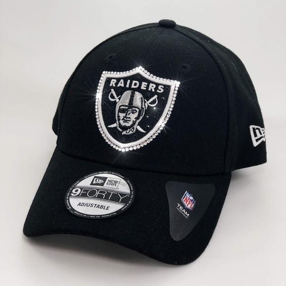 7247aa28d Custom Bling Raiders NFL Cap w/ Swarovski Crystals Boutique